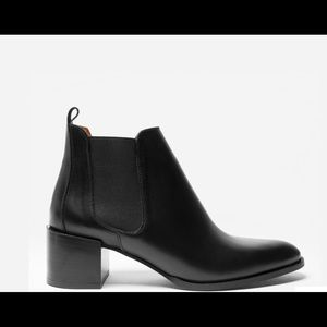 Everlane the heeled boot leather booties size 11